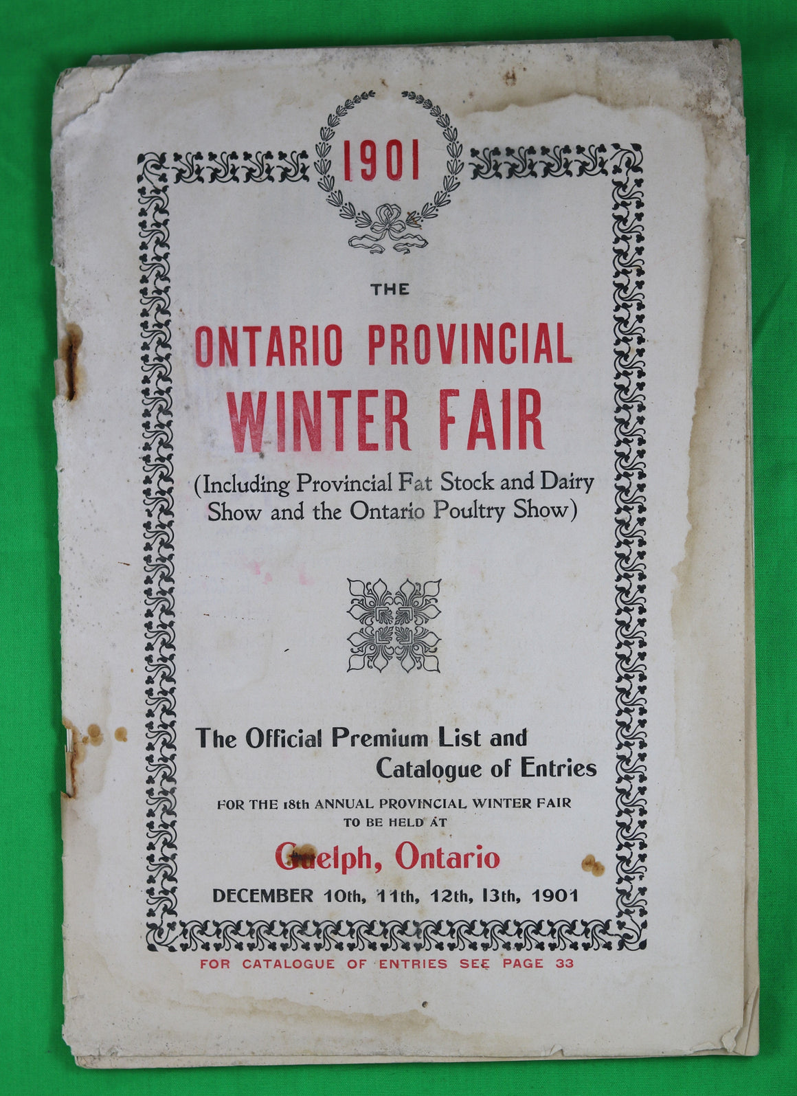 1901 Ontario Winter Fair