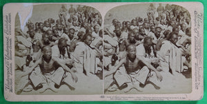 1901 stereoscopic photo – 6th US Cavalry prisoners Boxer Rebellion