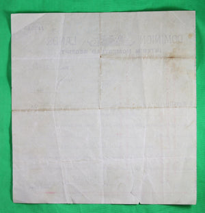1904 Dominion Lands - Interim Homestead Receipt for Yorkton Assiniboia