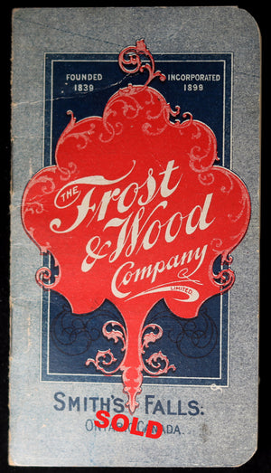 1905 Pocket Memory Helper, Frost & Wood Ontario