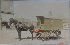 @1905 RPPC photo of Lake Simcoe Ice wagon – Toronto Canada