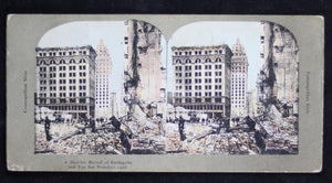 1906 San Francisco stereoscopic view, desolation after earthquake and fire