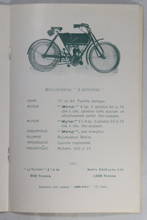 1906 brochure pour motocyclette Werner (motorcycle)