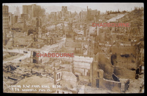 1906 photo postcard San Francisco after earthquake – from Kohl Bldg