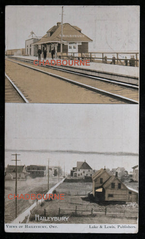 1906 photo postcard of Haileybury, Northern Ontario