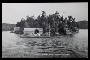 1906 photo postcard of Stanley House, Lake Joseph, Ontario CA
