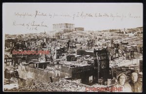 1906 postcard photo ruins of Chinatown San Francisco after earthquake