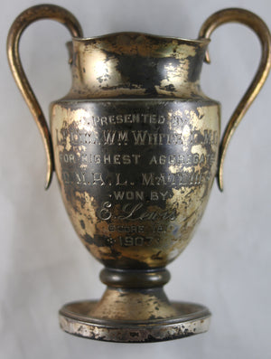 1907 Canada sports trophy C.M.A.L. Matches