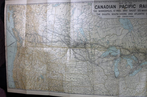 1907 Canadian Pacific Railway system map