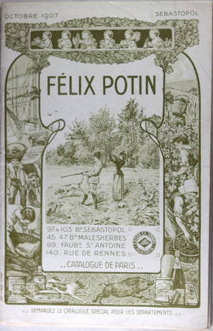 1907 Paris catalogue épicier Félix Potin