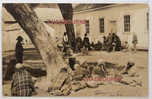 1907 RPPC photo postcard Hopi native Americans on reservation