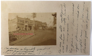 1907 photo postcard downtown of silver-rush mining town Cobalt Ontario