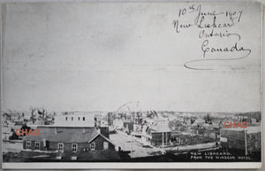 1907 postcard photo of New Liskeard Northern Ontario (Canada)