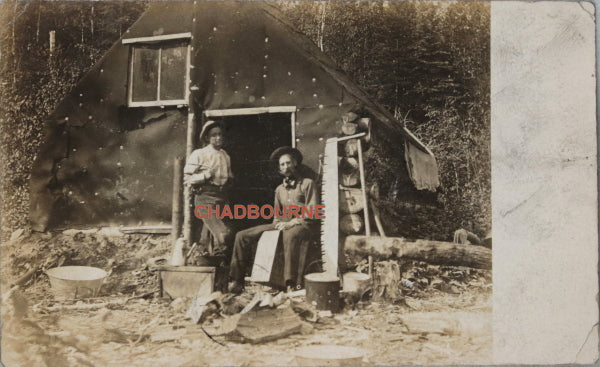 1907 set of 5 photo postcards mining rush, Latchford Ontario