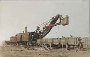 1908 RPPC photo postcard railway track maintenance A.T. & S.F. Railroad
