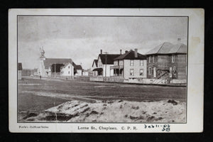 1908 photo postcard of Lorne Street Chapleau Ontario