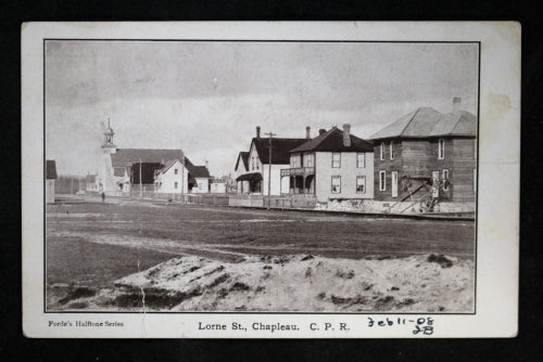 1908 photo postcard of Lorne Street Chapleau Ontario ...