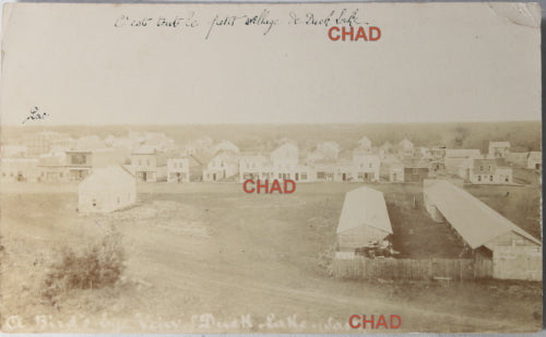 1909 RPPC photo postcard Duck Lake Saskatchewan, residential school