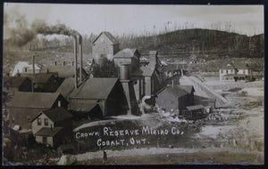 @1909 photo postcard Crown Reserve Mine Cobalt Canada