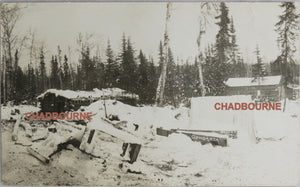 1909 photo postcard of the Gowganda Ontario Mining Camp