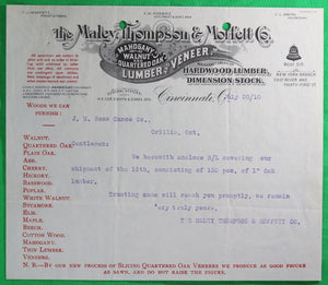 1910-15 lot of 4 documents Boat and Canoe maker in Orillia ON