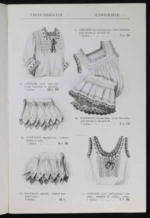 @1910 Catalogue lingerie 'Maison de l'Opéra' (Paris)
