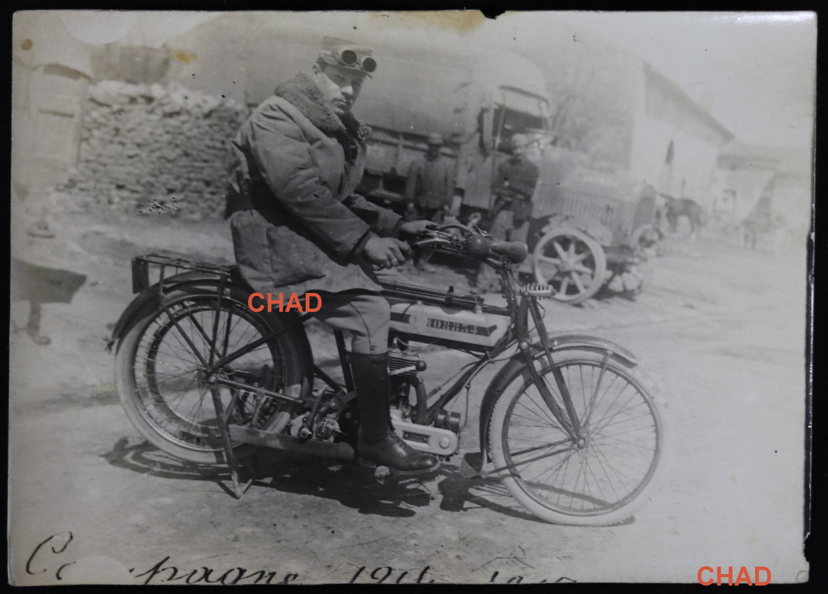 @1910 photo motocyclette français (?)  French (?) motorcycle