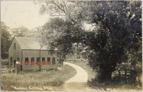 1910 photo postcard Vodon's Glass Cutting Shop, Sandwich Cape Cod MA