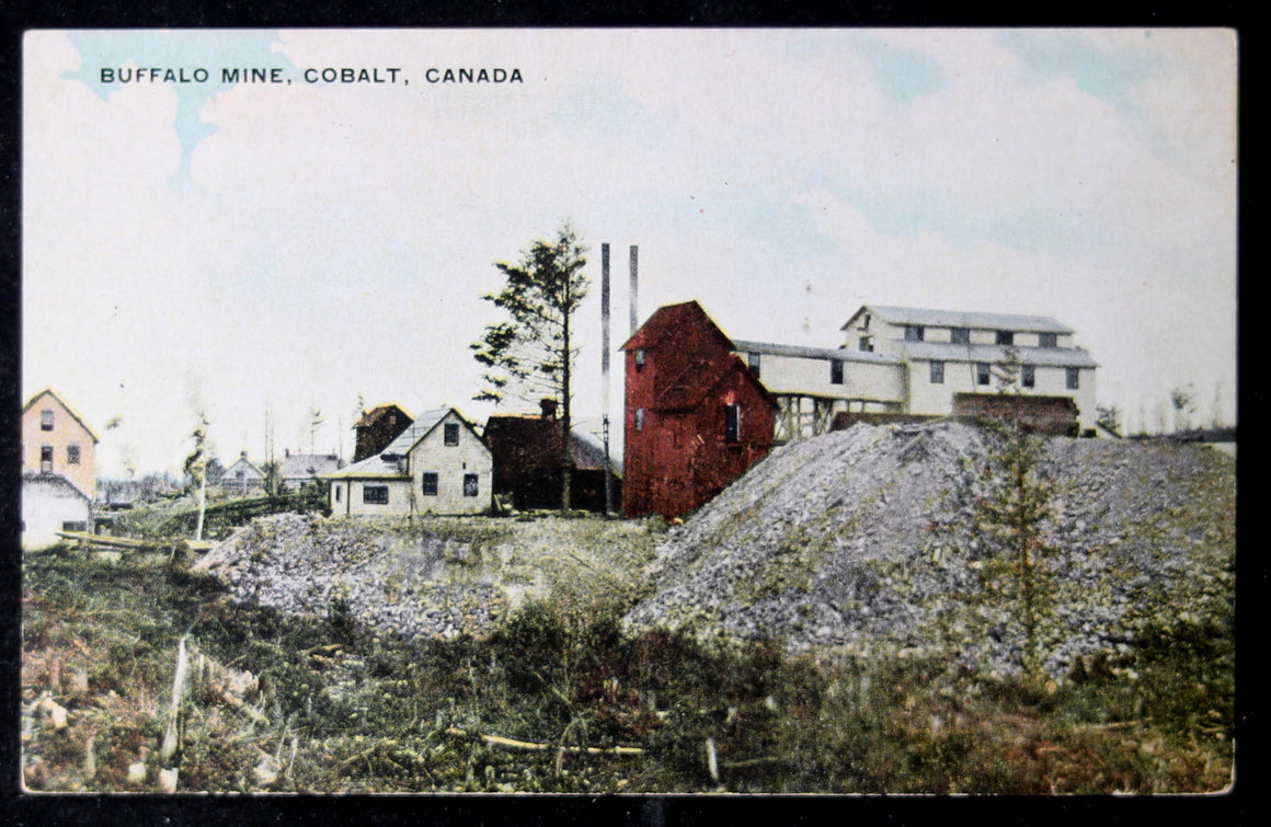 @1910 postcard Buffalo Mine Cobalt Canada