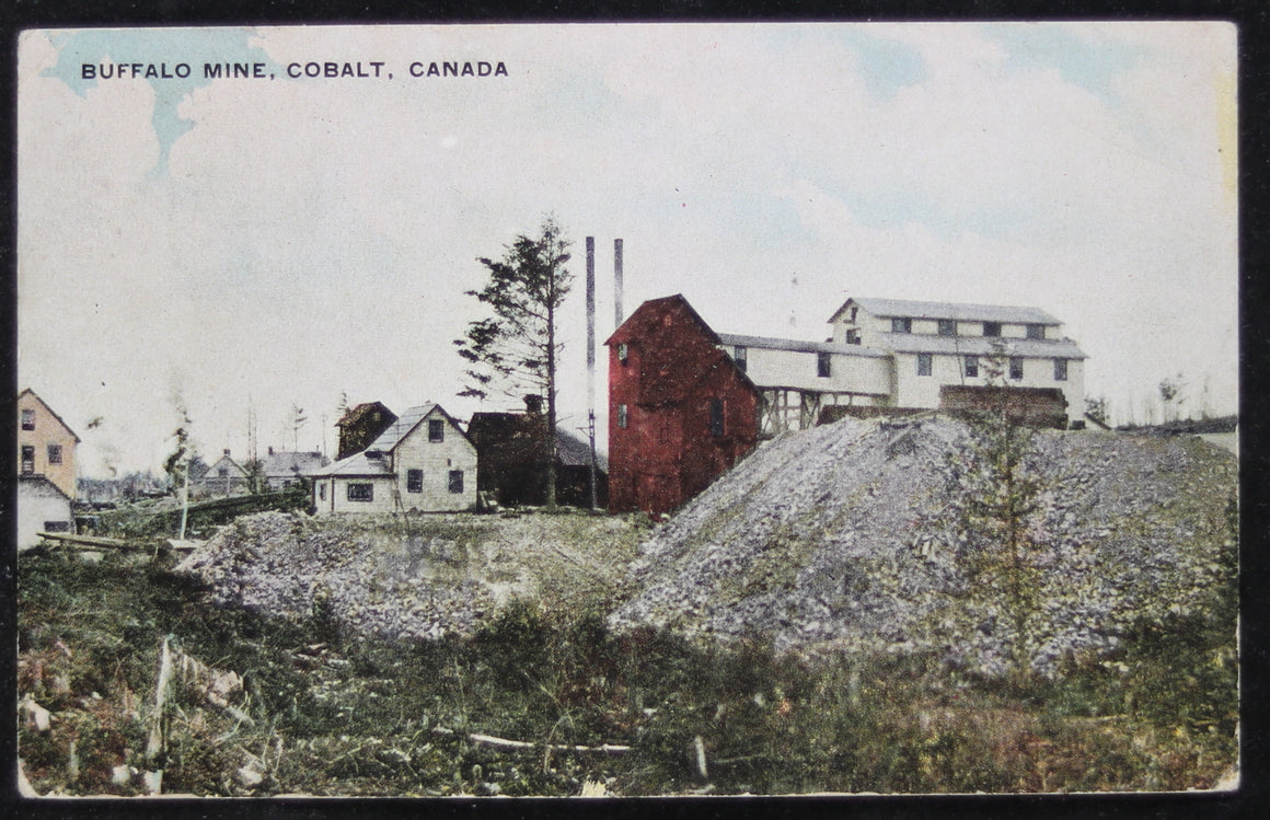 @1910 postcard Buffalo Mine Cobalt Canada #2