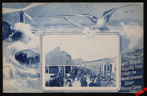 @1910 postcard train station Cobalt Silver Mining Camp Canada
