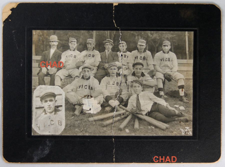 1910 vintage baseball photo YICBA team (Canada)