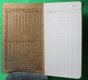 1910s Workmen's Weekly Time Book