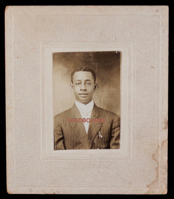 1911 B&W photo of 16 y.o. African-American Clyde Broadus