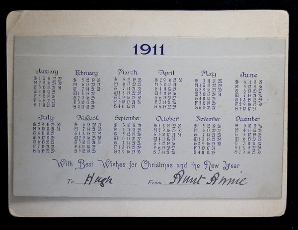 American Express Checkout >> 1911 Calendar with puppy and frog - Chadbourne Antiques ...