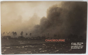 1911 RPPC photo postcard Great Fire approaching Porcupine Ontario