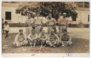 1911 photo of US 9th infantry baseball team in the Philippines