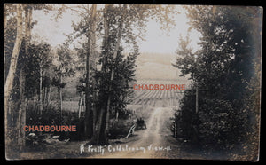 1912 Canada photo postcard countryside Coldstream B.C.