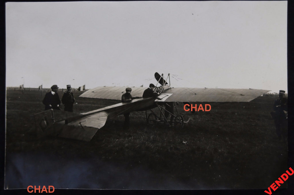1912 Reims photo aviateur Vidart dans son avion Deperdussin