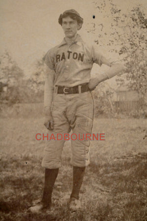 1912 photo of baseball player, Raton New Mexico