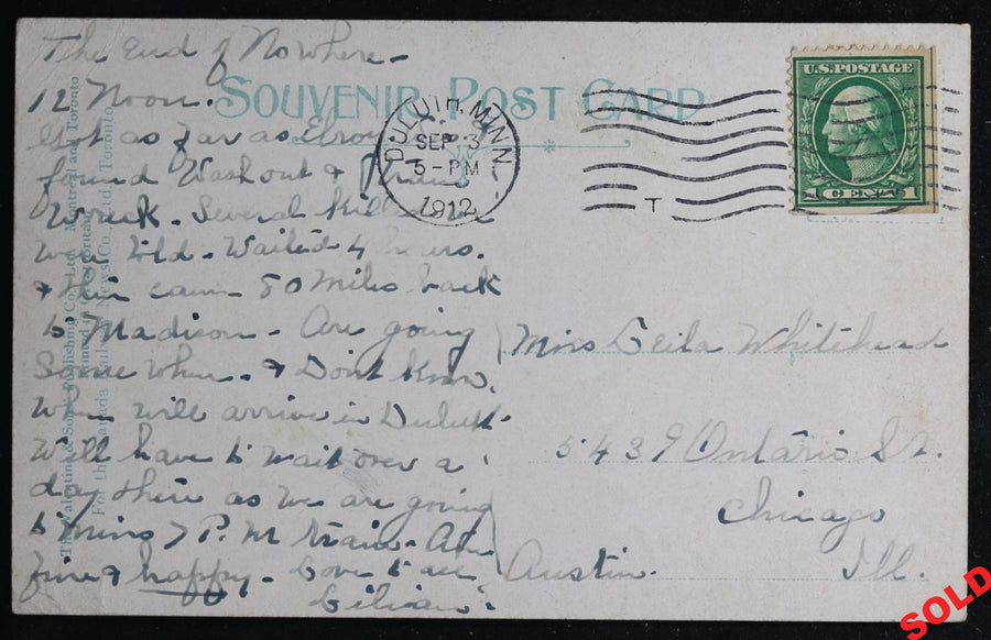 1912 postcard Red Rock Silver Mine Cobalt, Canada