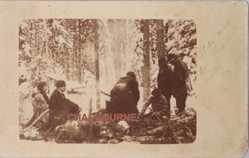 1912 scarce photo postcard Revillon fur trade company James Bay Canada