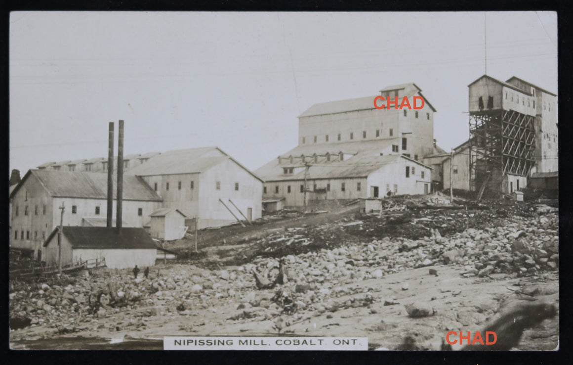 1913 RPPC photo postcard Nipissing Mill, Cobalt Canada