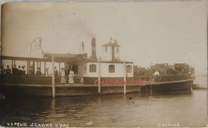 1913 photo postcard steamer 'Jeanne d'Arc' Lachine Quebec