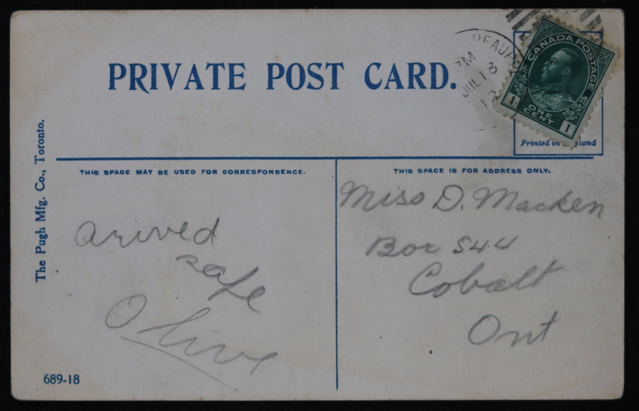 1913 postcard Temiskaming & H. Bay Co. Mine Cobalt, Canada