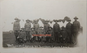 1914 Canada photo postcard of Mt. Forest cadets, London (Ontario)