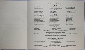 1914 Commencement of Florida State College for Women invitation