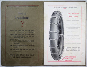 1915 catalog Fox Anti-Skid chains for cars - Hamilton Ontario