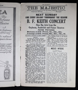 1917 Strauss Magazine Theatre Program - The Majestic (Brooklyn)