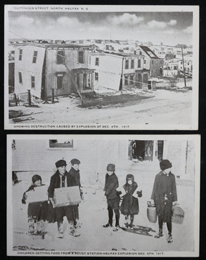1917 four photo postcards of aftermath of Halifax explosion